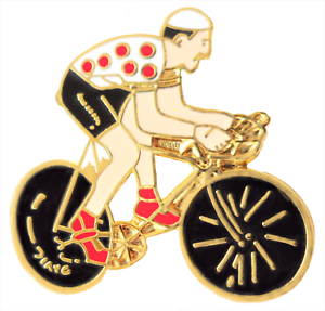 Tour-De-France-Gepunktet-Trikot-Rad-Rennen-King-Of-Mountain-Pin-Abzeichen