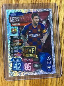 2019-20-Topps-LIONEL-MESSI-Match-Attax-Silver-Pulsar-MVP-SP-Soccer-Card