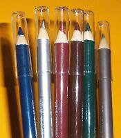 The Color Workshop Set Of 6 Eyeliner Pencils Brown, Blue, Green, Silver +2