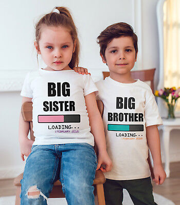 I M Going To Be A Big Sister Big Brother Children T Shirt Announcement Idea Ebay
