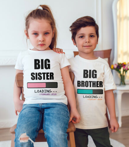 I/'m going to be a Big Sister//big brother  Children T Shirt Announcement Idea
