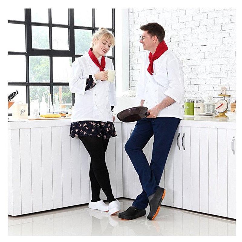 Stico Da Uomo Chef Cucina Antiscivolo Scarpe Sicurezza Di Gomma Di Sicurezza Scarpe sul Lavoro NEC03 1593ec