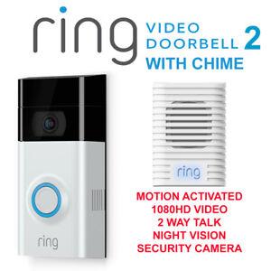 7278ac5af02 Ring Video Doorbell 2 Motion Detected1080HD Video 2-Way Talk Camera ...