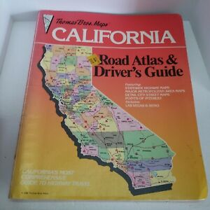 Thomas Bros Guide California Road Atlas and Driver's Guide 1986 Edition Spiral