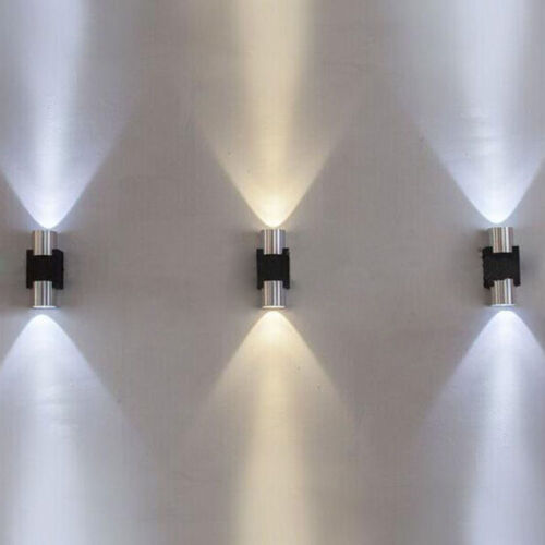 Waterproof 2W LED Wall Light Fixture Up Down Sconce Porch Lamp Outdoor House