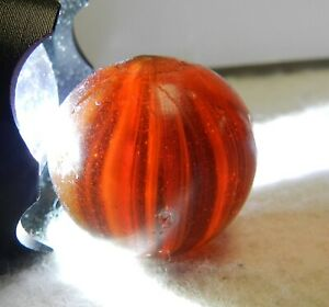 #10328m Unique .88 Inches German Handmade Carmel Marble Cool Inside