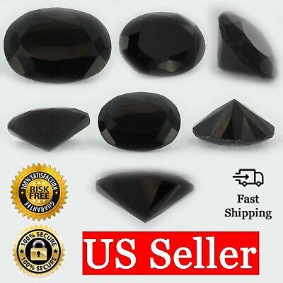 Loose Tapered Baguette Cut Black Onyx CZ Stone Single Cubic Zirconia Birthstone