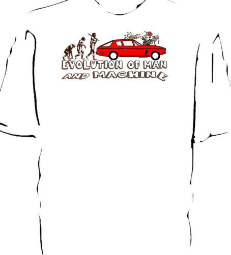 "Jensen Interceptor Classic Car /""Evolution of Man and Machine-Lavage/"" T-Shirt"