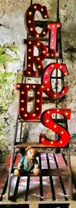 LED-CIRCUS-CARNIVAL-AGED-PEELING-PAINT-METAL-33-CM-ALPHABET-LETTERS-A-to-Z