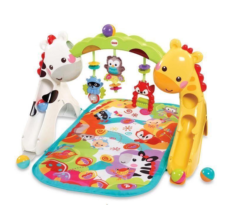 Fisher -Price Nyfödd till -Kolt Spela Gym med bilener och bebis Mat stol leksak