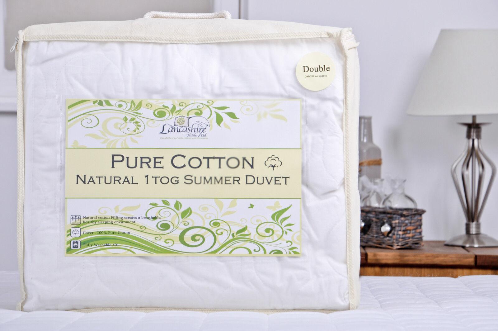 Natural 100% 100% 100% PURO COTONE 1 Tog quilt d886d6