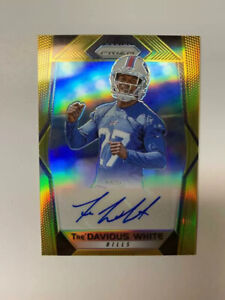 Tre-Davious-White-2017-Panini-Gold-Prizm-Auto-RC-10-Buffalo-Bills-NM-MT
