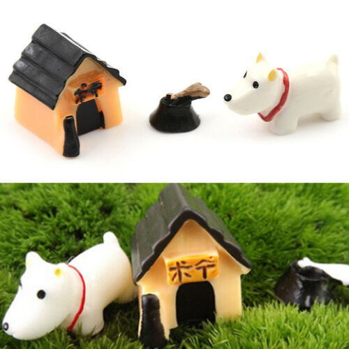 Dog House three-piece House Micro Fairy Landscape Gardening Garden Decor Nice JC