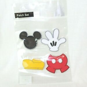 DISNEY PARK Patches 4er SET * MICKEY MOUSE PARTS* Aufnäher Bügelbild Disneyparks