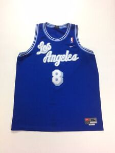 Details about Authentic Nike Throwback LA Lakers Away Kobe Bryant #8 Jersey Size X-Large Blue