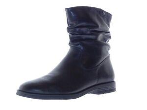 Details zu Tamaris Damen Schuhe Winter Boots Stiefel Stiefeletten Gr 40 Leder Schwarz