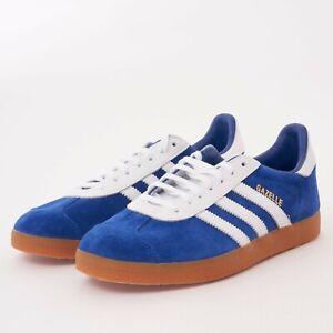 Details about Men's ADIDAS Originals Gazelle Collegiate Burgundy or Blue/White Shoes [Sizes]