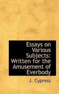 Cheap amusements essays