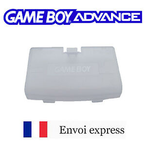 Cache-pile-Clear-blue-bleu-Game-Boy-Advance-neuf-Battery-cover-Gameboy-GBA