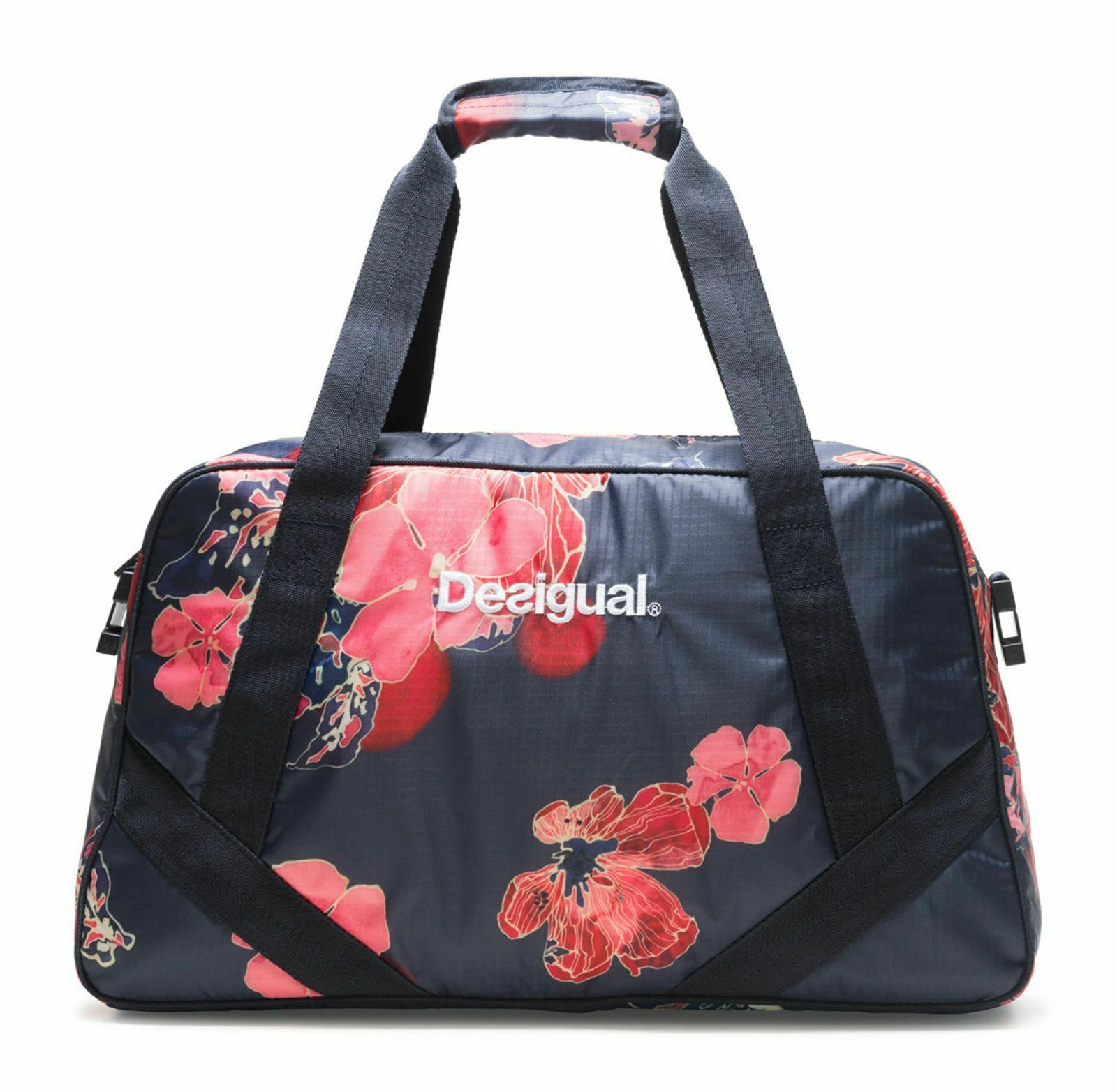Desigual Scarlet Bloom Carry Shoulder Bag Sporttasche Tasche Peacoat