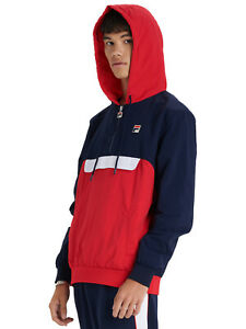 Details about FILA MEN'S MACKER 2 OH HOODIE JACKET IN PEACOAT RED WHITE BNWT