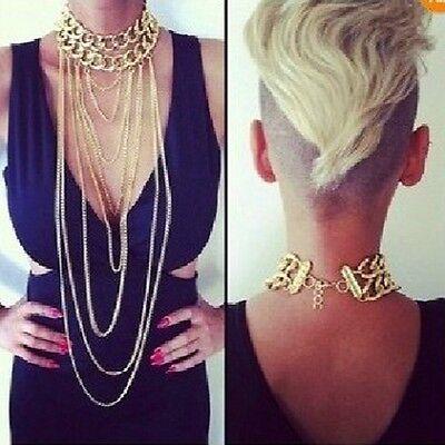 New Body Chain Jewelry Bikini Waist Gold Belly Sexy Beach Harness Slave Necklace