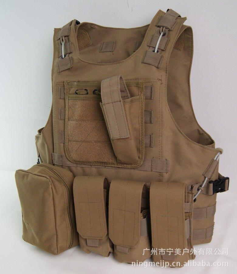 Tan Colour Combat Tactical Soft Bullet proof vest IIIA NIJ0101.06