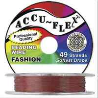 30' Accuflex Brick Red 49 Strand .014in Accu-flex Beading Wire