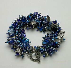 Image Is Loading Bracelet Bead Kit 034 Elephant Walk Blue