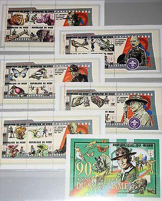 Niger 1998 Klb 1484-03 Block 112 972-5e Boy Scouts Animals Minirals Mushroom Mnh Briefmarken