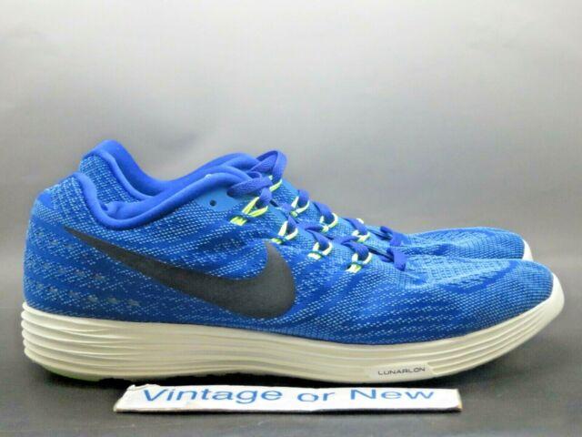 best service 82b98 a36f4 Men's Nike LunarTempo 2 Racer Blue Black Volt Running 818097-401 sz 12