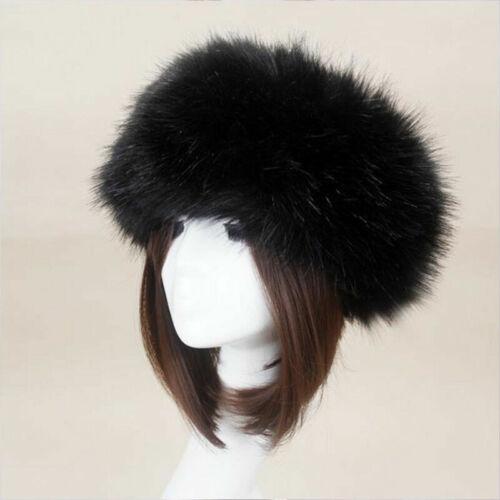 1Pair Women Girls Ladies Thick Fluffy FAUX Fur Headband Winter Ear Warmer