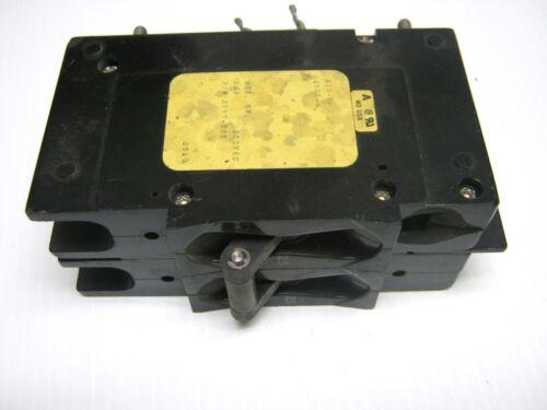AIRPAX 2 Pole 25 Amp  Circuit Breaker Shunt Trip 10 A Aux Contact 219-2-4505-4 ~