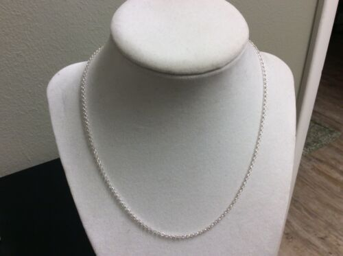 20 Inch 925 Sterling Silver Cross Chain Necklace H
