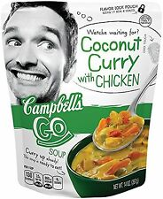 Campbell's Go Soup Coconut Curry with Chicken 14 Ounce (Pack of 8) New Free Ship