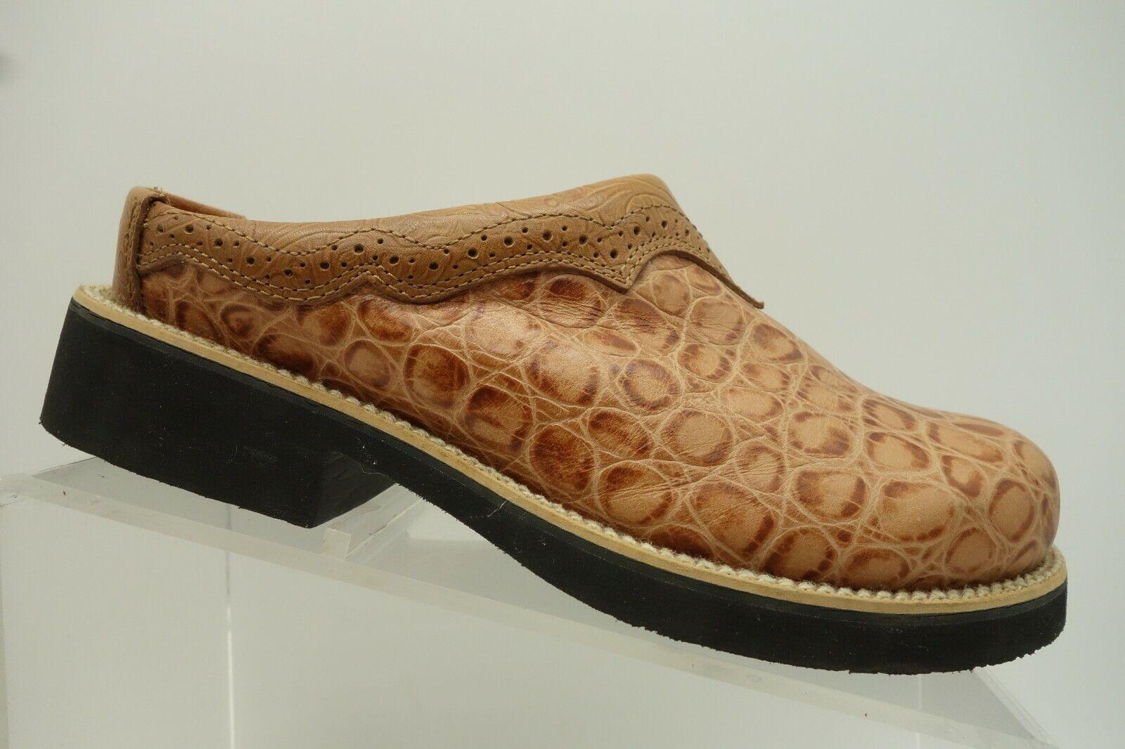 Twisted X braun Crocodile Print Leather Slide On Casual Clog Clog Clog schuhe damen 7.5 M fba718