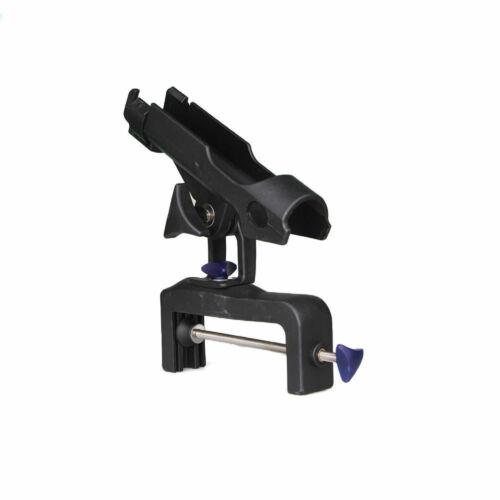 Adjustable Boat Fishing Rod Holder Pole Kit For Racks 360° Folding Bracket Black
