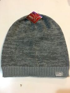 542160e053b Image is loading Puma-Beanie-Gray-Shimmer-Silver-One-Size-Adult