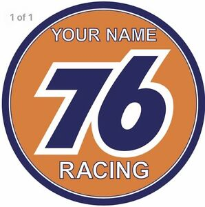 Your name 76 Union Oil gasoline racing vintage sign Custom