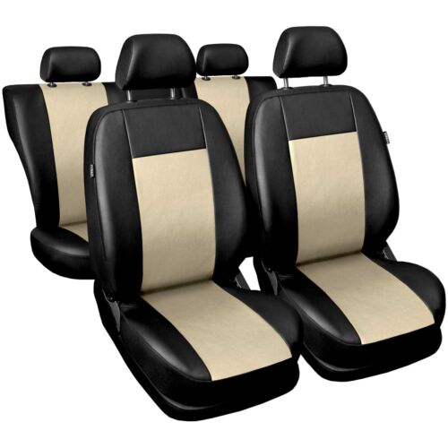 Siège-auto Housses universel beige pour SKODA FABIA Sitzbezüge Housse de siège siège de voiture