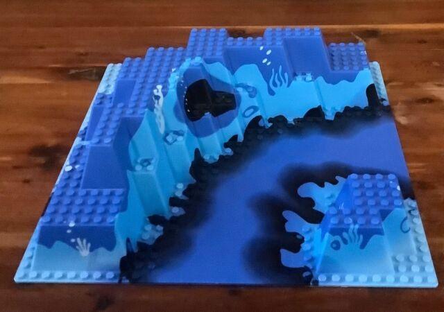 Lego 3D Platte Bauplatte 3947pbx1 Set 6190Baseplate Blau Blue Aquqsharks