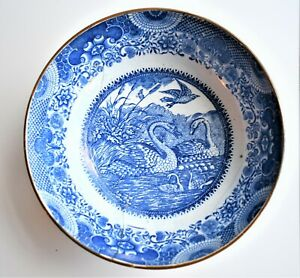 Antique-English-Pearlware-Blue-amp-White-Repaired-Bowl-18th-or-19th-Century