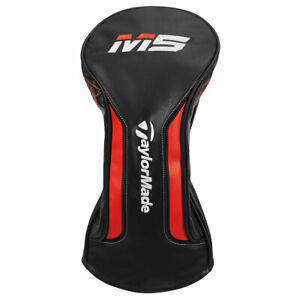 New-2019-TaylorMade-M5-Driver-Head-Cover-Black-White-Blood-Orange