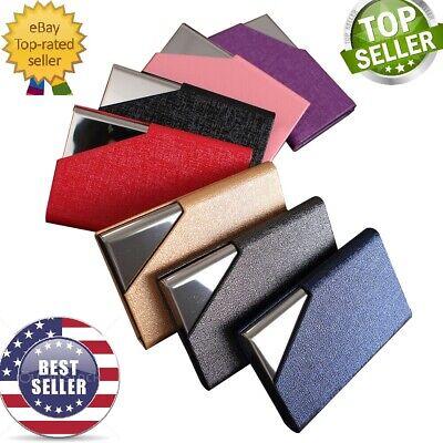 Pocket Metal Business 30 Card Magnetic  Holder Case Organizer ID Credit Wallet