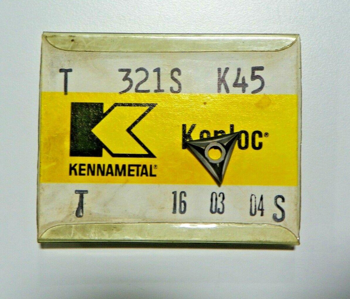 5 Kennametal T 321S K45 Carbide Inserts