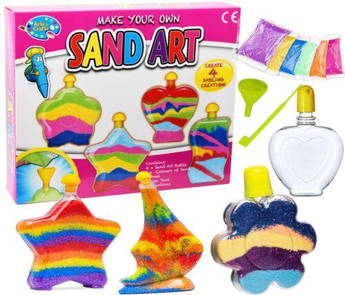 Sand Art Bottles Make Your Own Sand Art DIY Super Activity Kit Kids Craft Toy