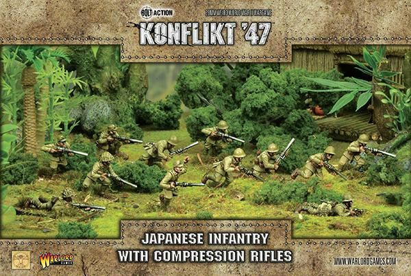 Warlord Games Konflikt 47 Japanese Infantry with Compression