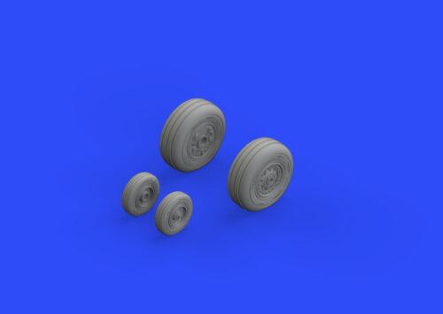 Eduard Accessories 648313-1:48 F-4J Wheels For Zoukei Mura N Resin Bausatz
