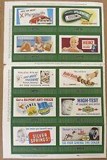 Lionel Postwar UNCUT Billboard Sheet No. 234 1952 10-Pack