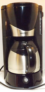 6 Cup Coffee Maker Grundig 900W Black & Stainless Permanent Filter eBay